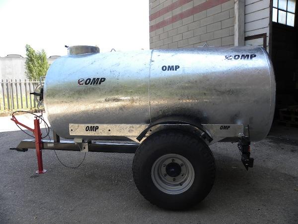 Carrobotte per trasporto acqua dispositivo arresto for Rimorchio doppio uso usato